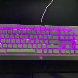 Razer BlackWidow X Chroma Mercury Edition-RGB [Green Switches] Good Condition