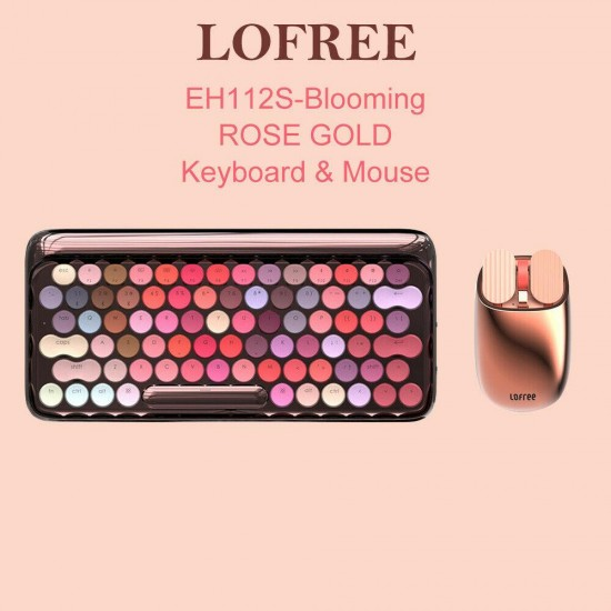 Lofree Rose gold mechanical Keyboard & Mouse Bluetooth / Wired Dual Mode