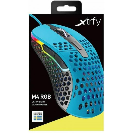 [From Japan] Xtrfy M4 RGB Right Hand Ergonomic Gaming Mouse Miami Blue 701059