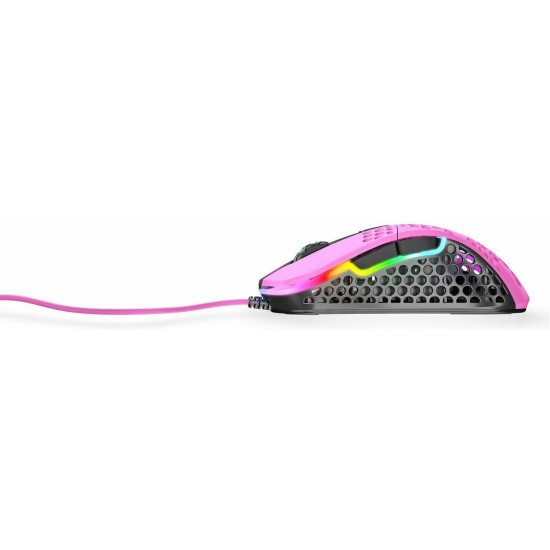[From Japan] Xtrfy M4 RGB Right Hand Ergonomic Gaming Mouse Pink 701060